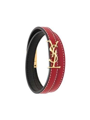 Picture of Saint Laurent | Monogram Wrap Bracelet