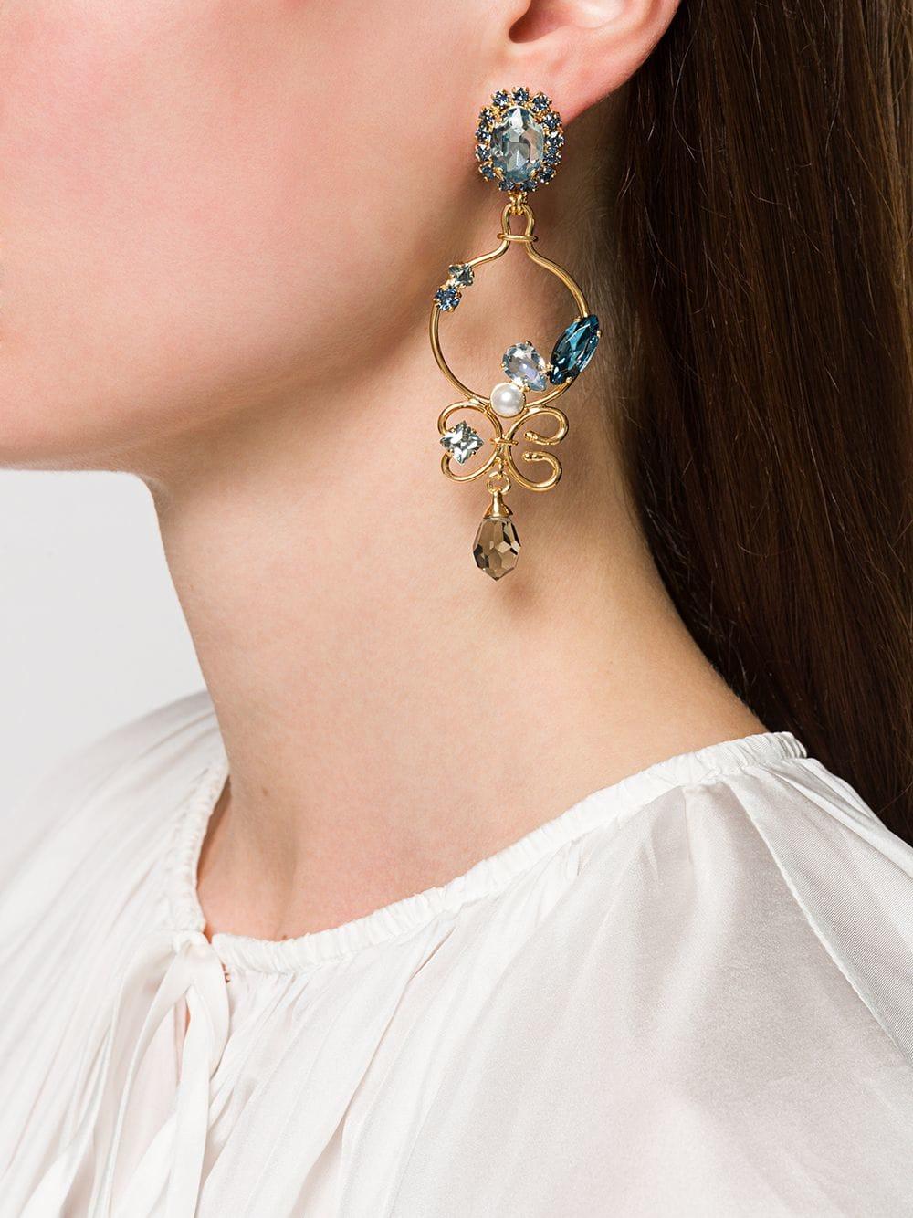 Picture of Erdem | Blue Crystal Earrings