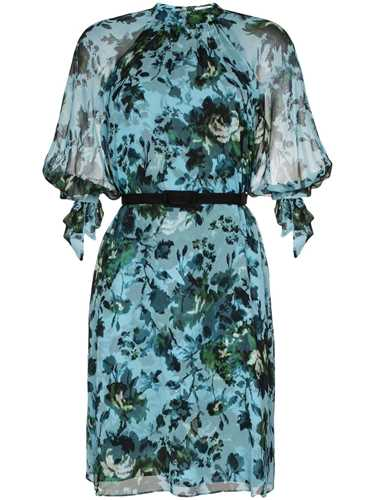 Picture of Erdem | Melodie Floral Print Silk-Chiffon Dress