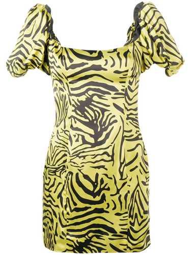 Picture of De La Vali | Puff Sleeve Mini Dress