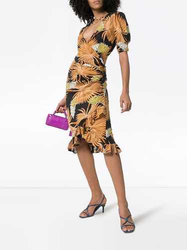 Picture of De La Vali | Shanna Printed Silk Wrap Dress