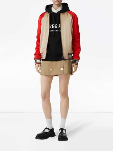 Picture of Burberry | Icon Stripe Detail Monogram Motif Bomber Jacket