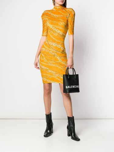 Picture of Balenciaga   Fitted Turtleneck Mini Dress