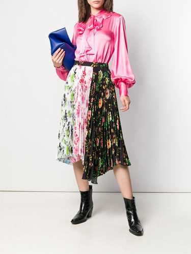 Picture of Msgm | Pussy Bow Ruffled Shirt