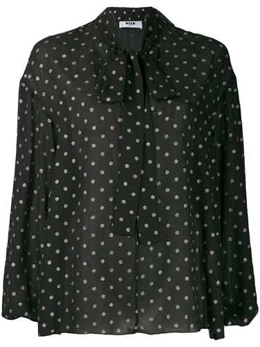 Picture of Msgm | Glitter Dotted Blouse