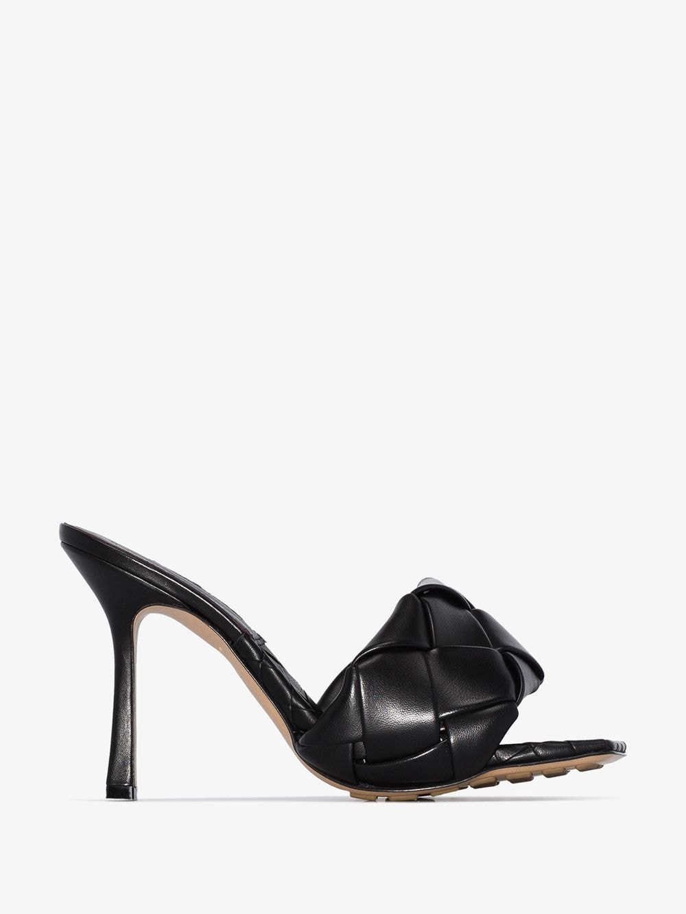 Picture of Bottega Veneta | Bv Lido Woven-Strap 90Mm Sandals