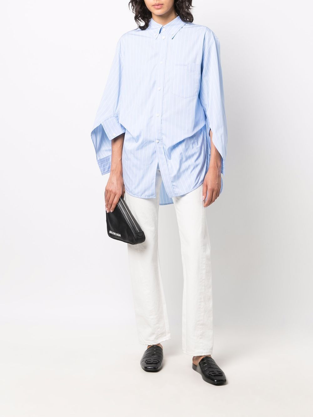 Picture of Balenciaga | Swing Twisted Cotton Shirt