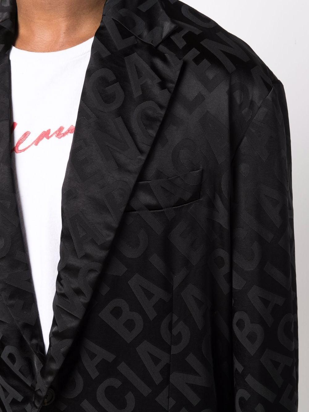 Picture of Balenciaga | Logo Jacquard Blazer