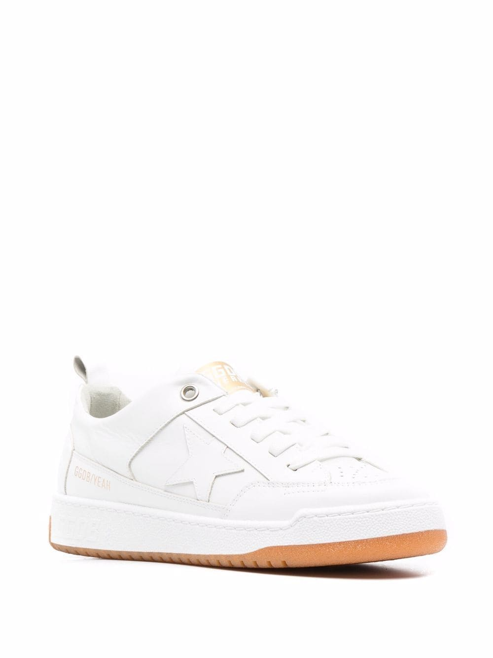 Picture of Golden Goose Deluxe Brand   Yeah Low-Top Lace-Up Sneakers