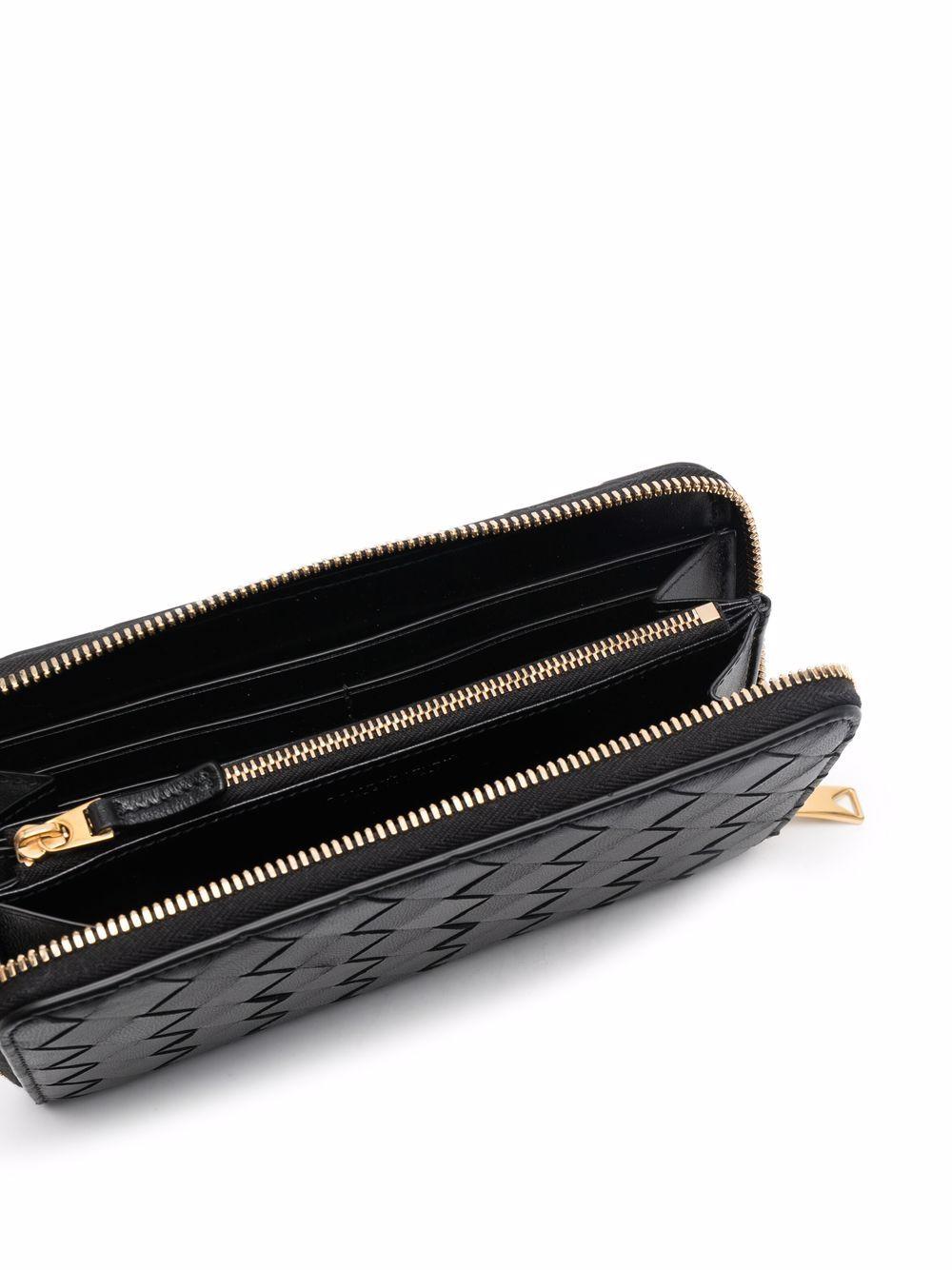Picture of Bottega Veneta | Woven Leather Continental Wallet