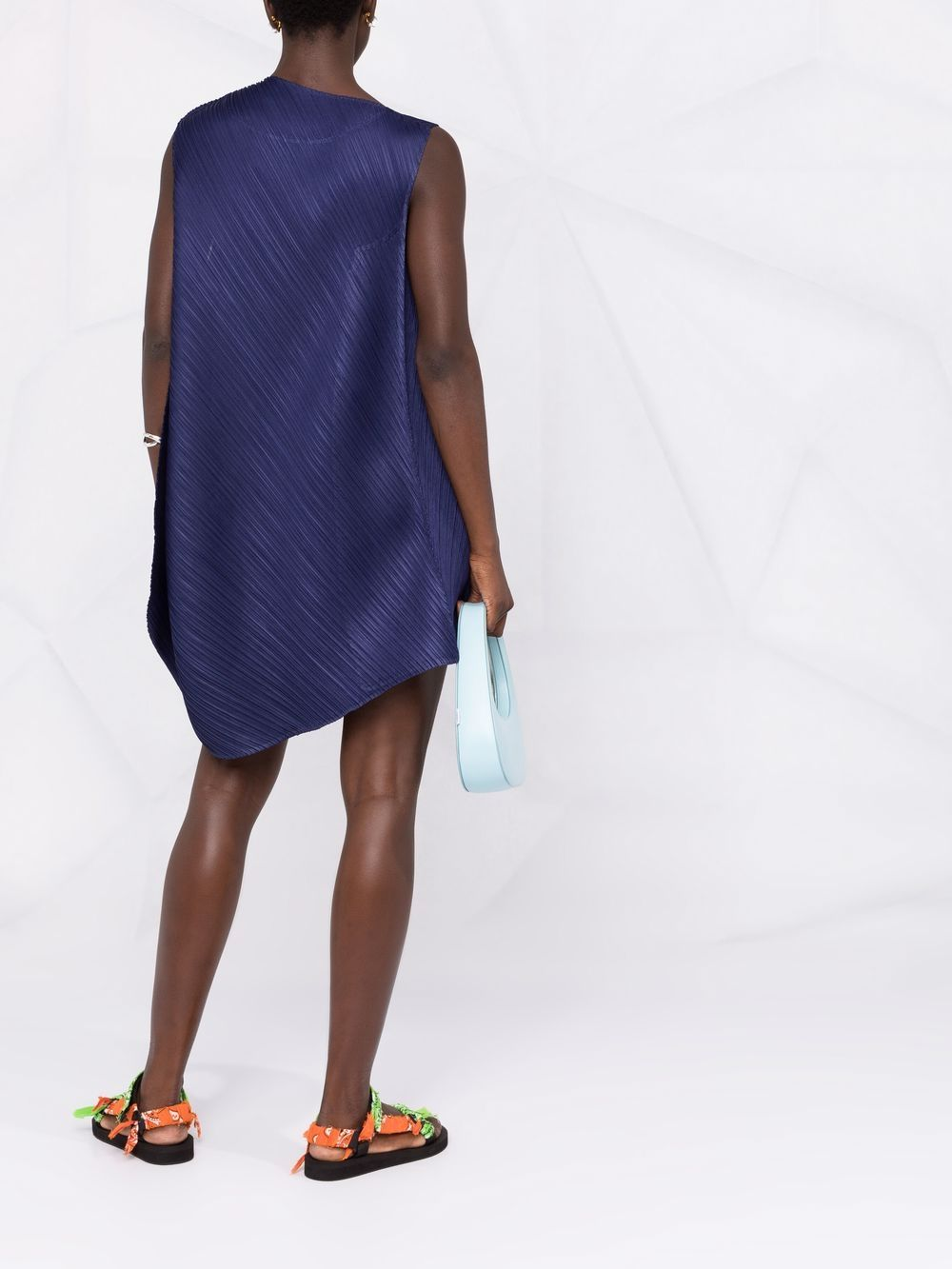 Picture of Issey Miyake Pleats Please | Asymmetric Pleated Mini Dress