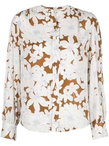Picture of Vince   Tropical Blooms Shirred Back Blouse