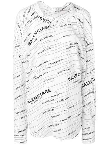 Picture of Balenciaga   Diagonal Stripe Logo Shirt