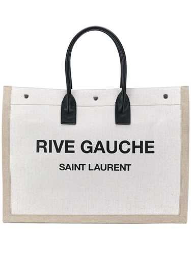 Picture of Saint Laurent | Logo Print Tote Bag