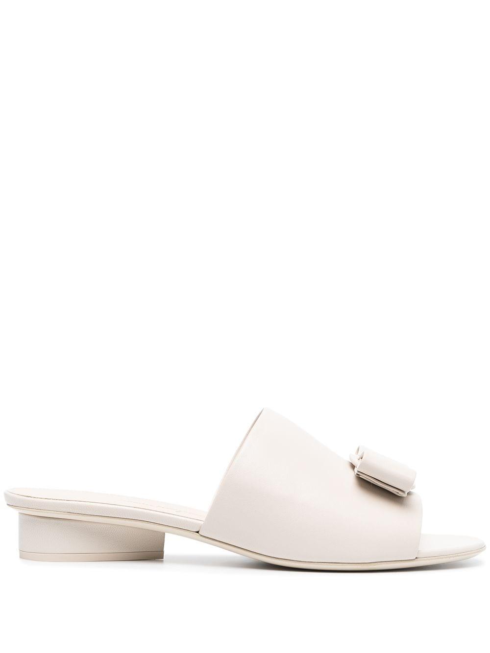 Picture of Ferragamo | Double Bow Mule Sandals