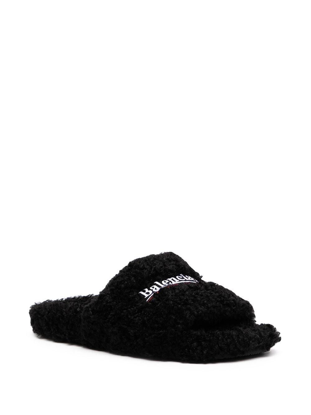 Picture of Balenciaga   Furry Slide Sandal