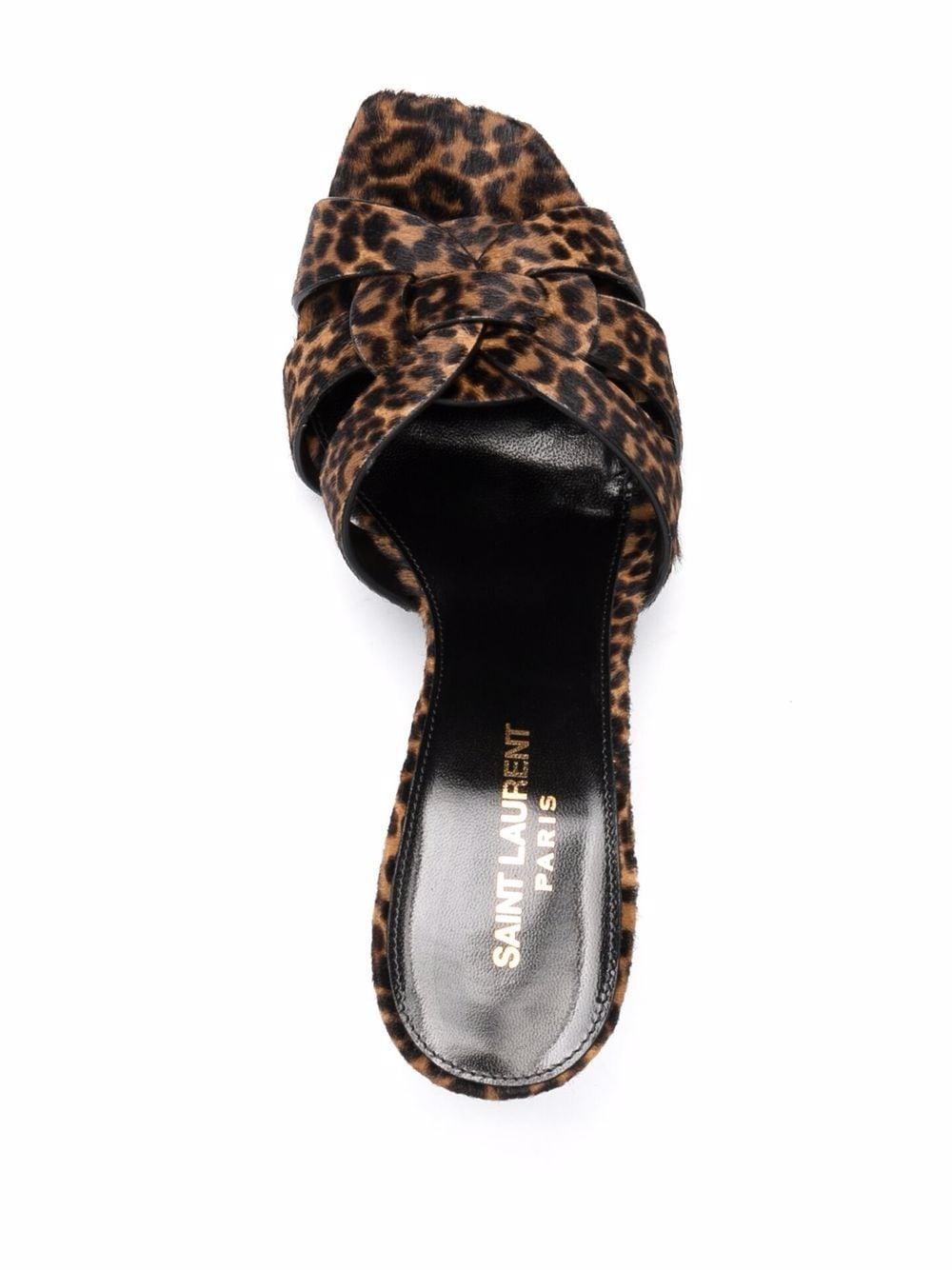 Picture of Saint Laurent | Tribute Leopard-Print 85Mm Mules