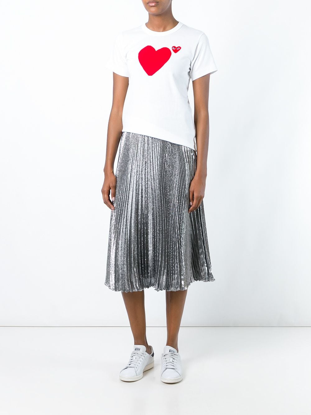 Picture of Comme Play | Heart Print T-Shirt