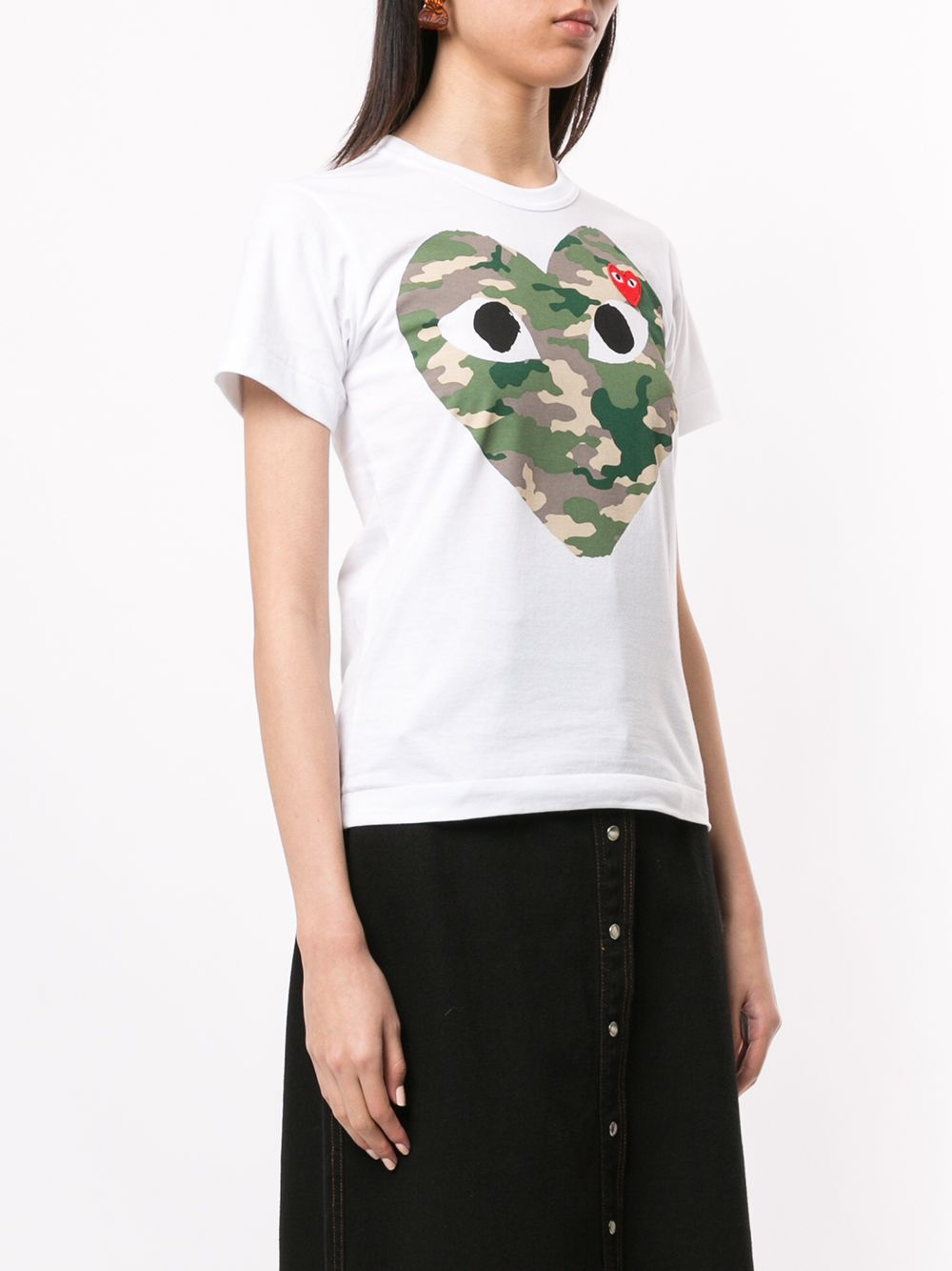 Picture of Comme Play   Logo-Print Crew Neck T-Shirt