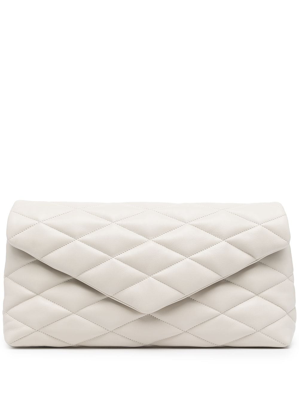 Picture of Saint Laurent | Sade Puffer Envelope Clutch Bag