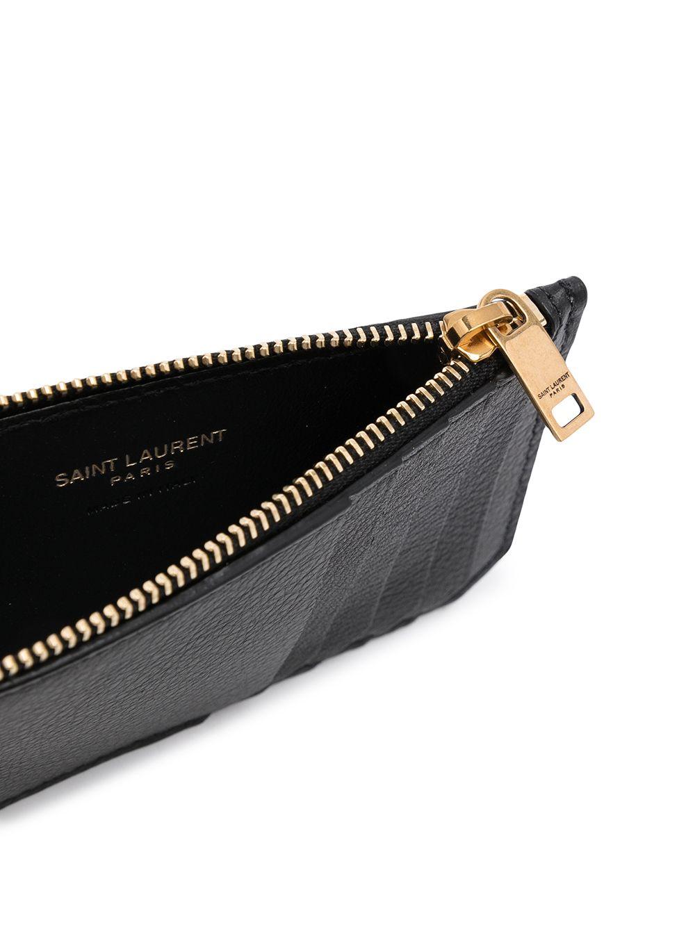 Picture of Saint Laurent | Pebbled Leather Cardholder