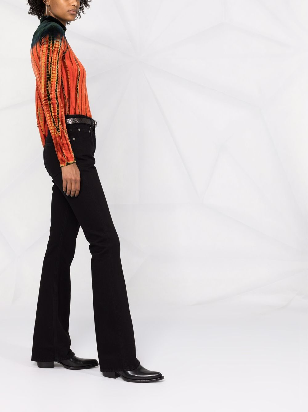 Picture of Golden Goose Deluxe Brand | High-Rise Flared Jeans
