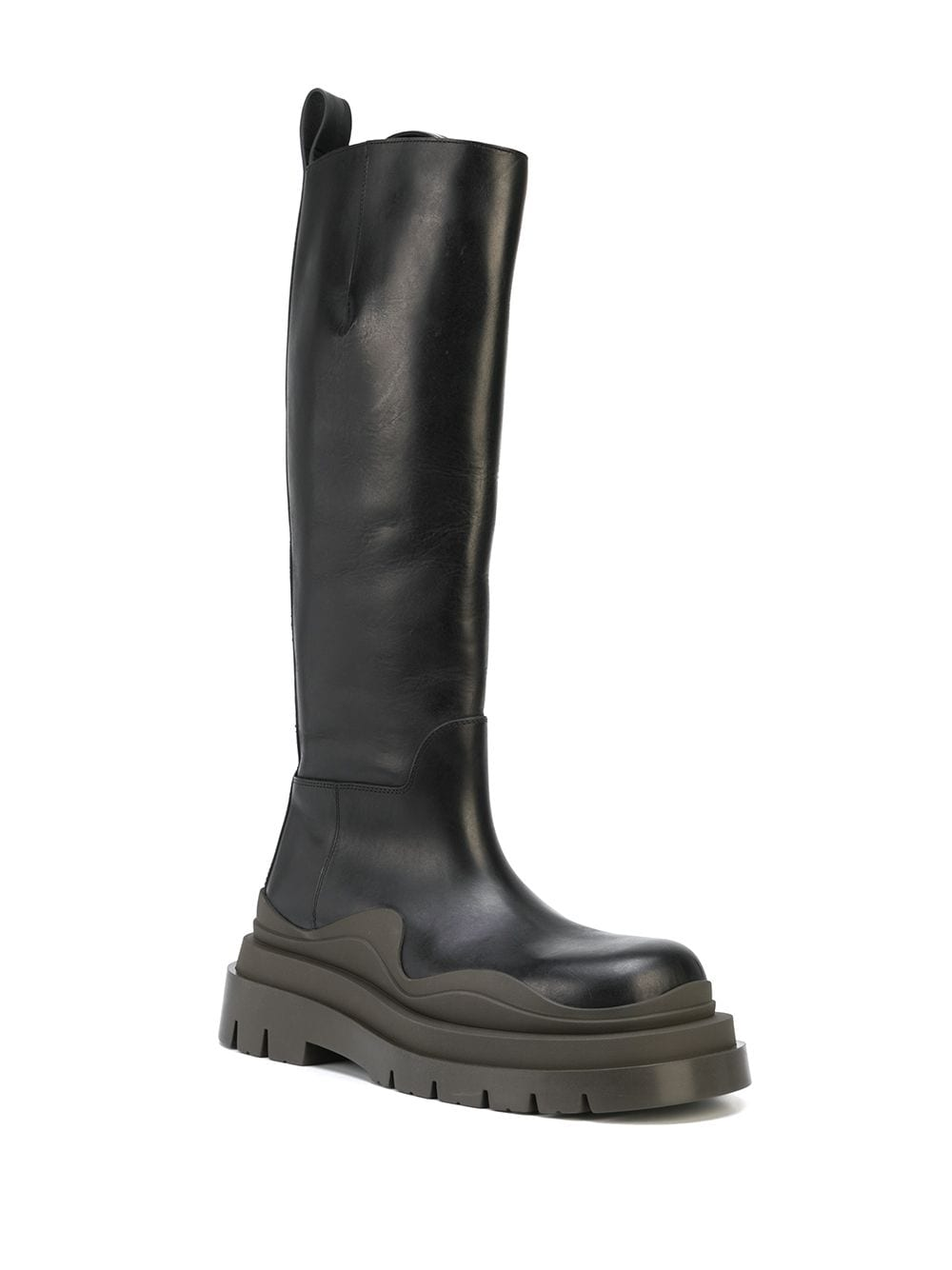 Picture of Bottega Veneta | Tire High Leather Boots