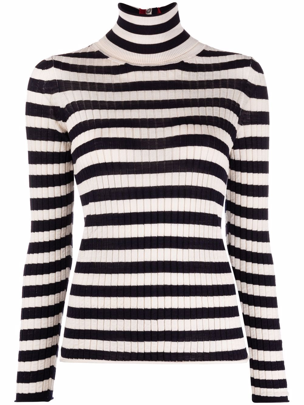 Picture of Semicouture | Stripe-Print Knitted Top