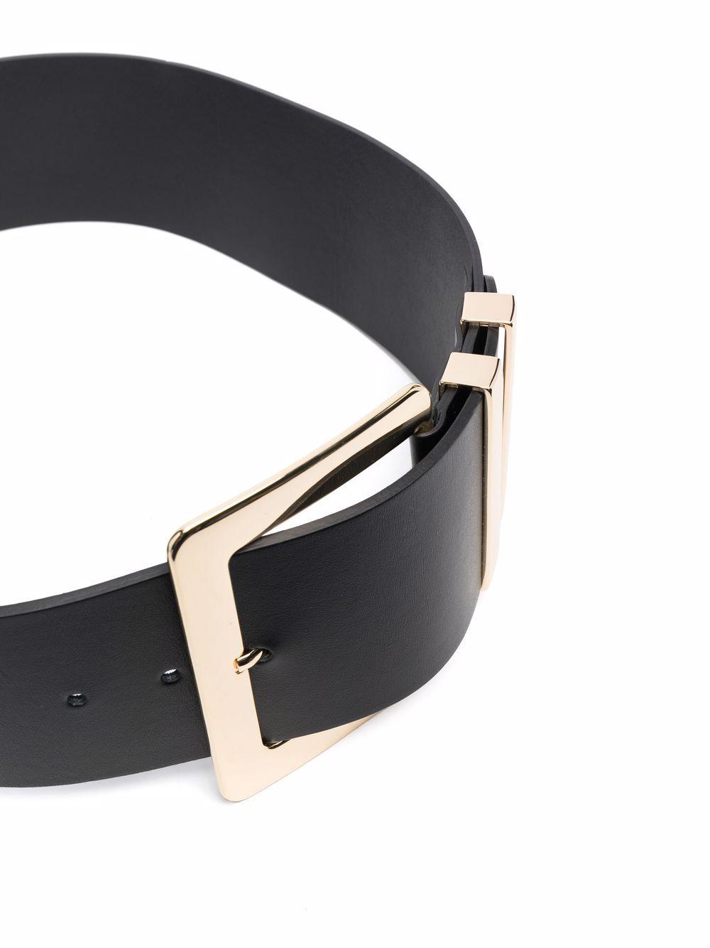 Picture of Erika Cavallini | Buckle Leather Belt