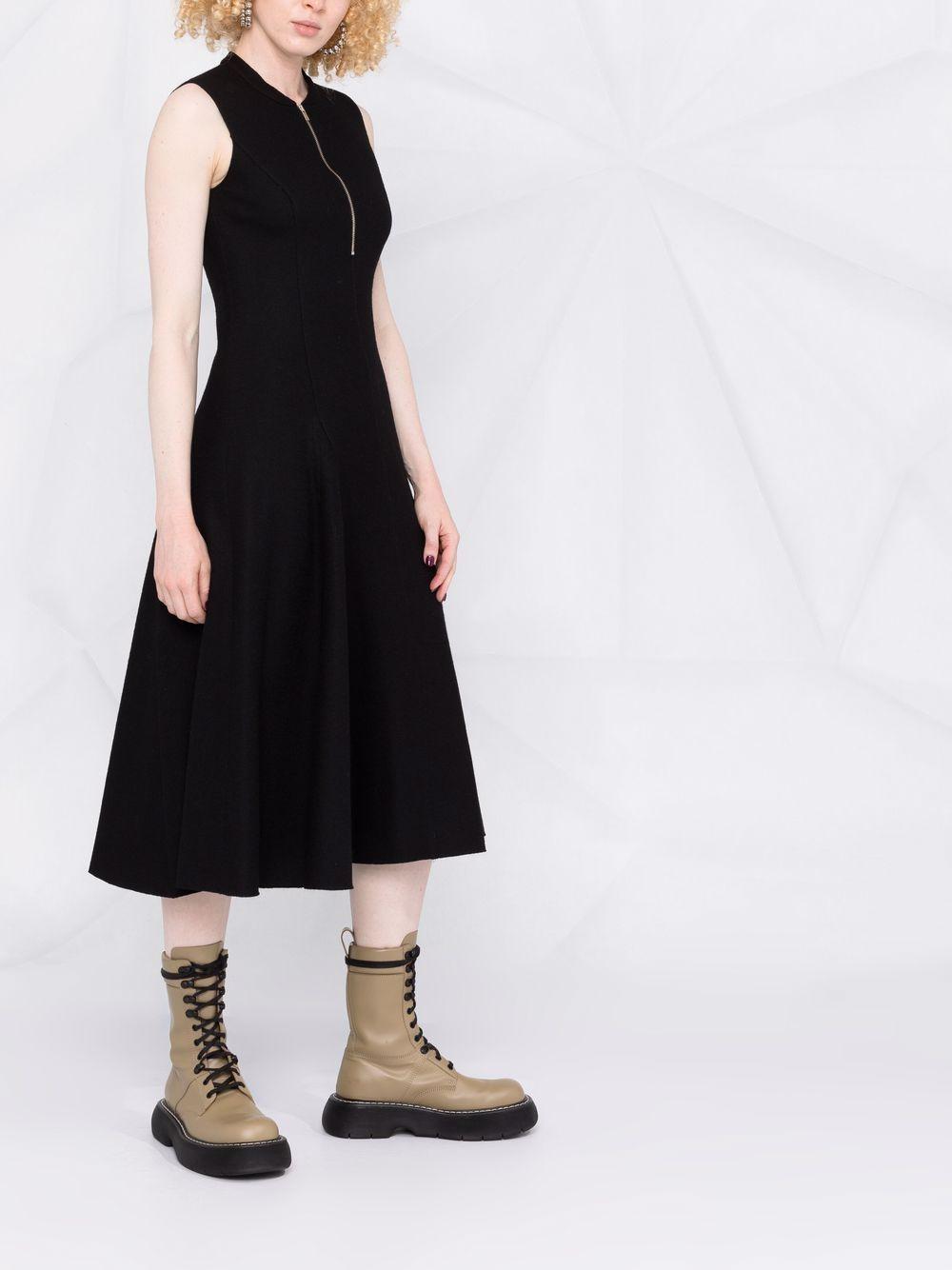 Picture of Erika Cavallini | Sleeveless Wool Midi Dress