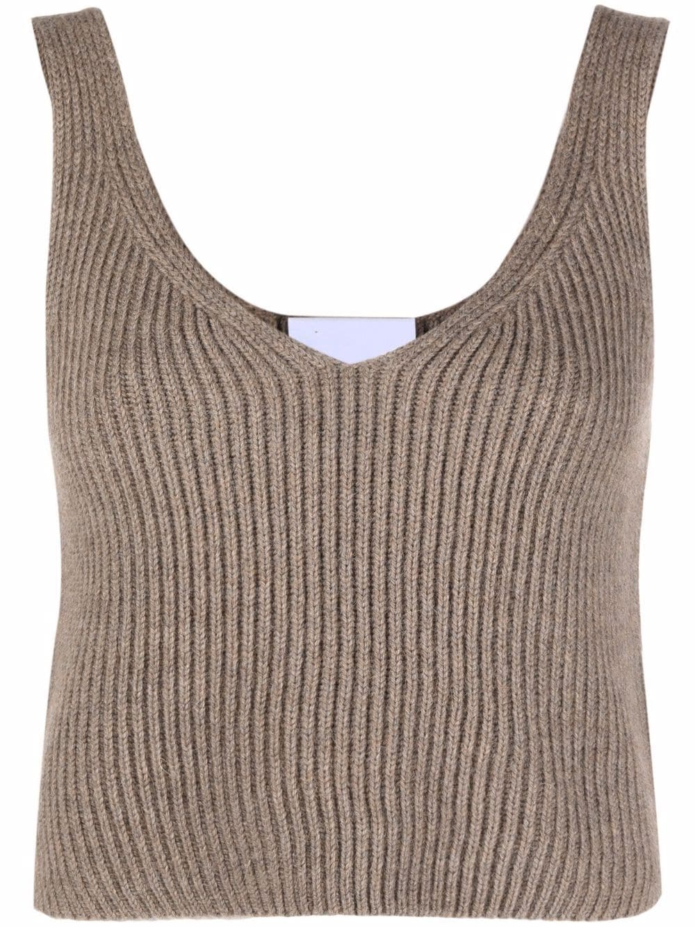 Picture of Erika Cavallini | V-Neck Knitted Vest