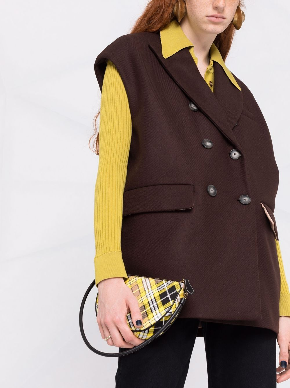 Picture of Semicouture   Double-Breasted Sleeveless Jacket