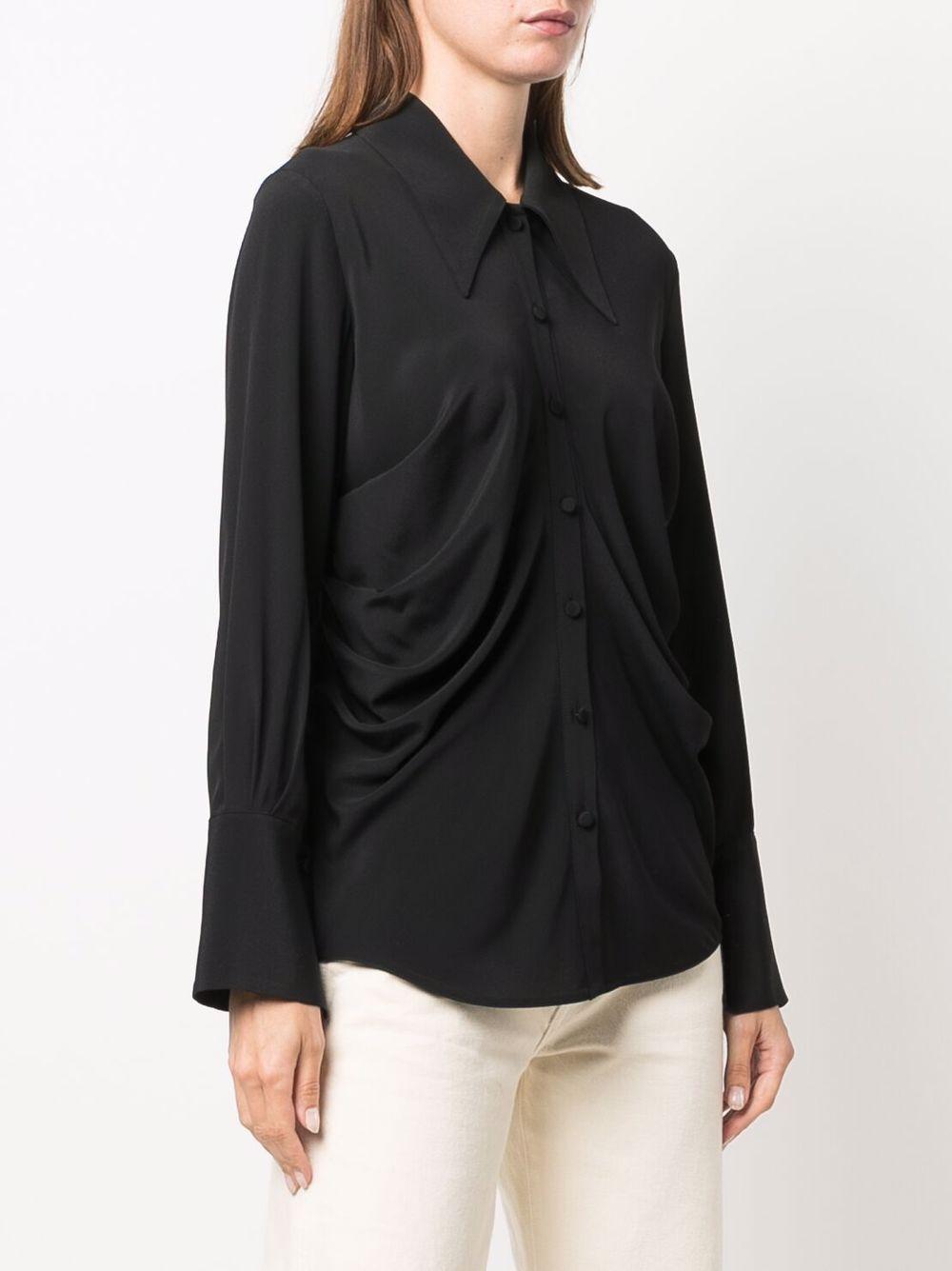 Picture of Erika Cavallini | Draped Long-Sleeve Shirt