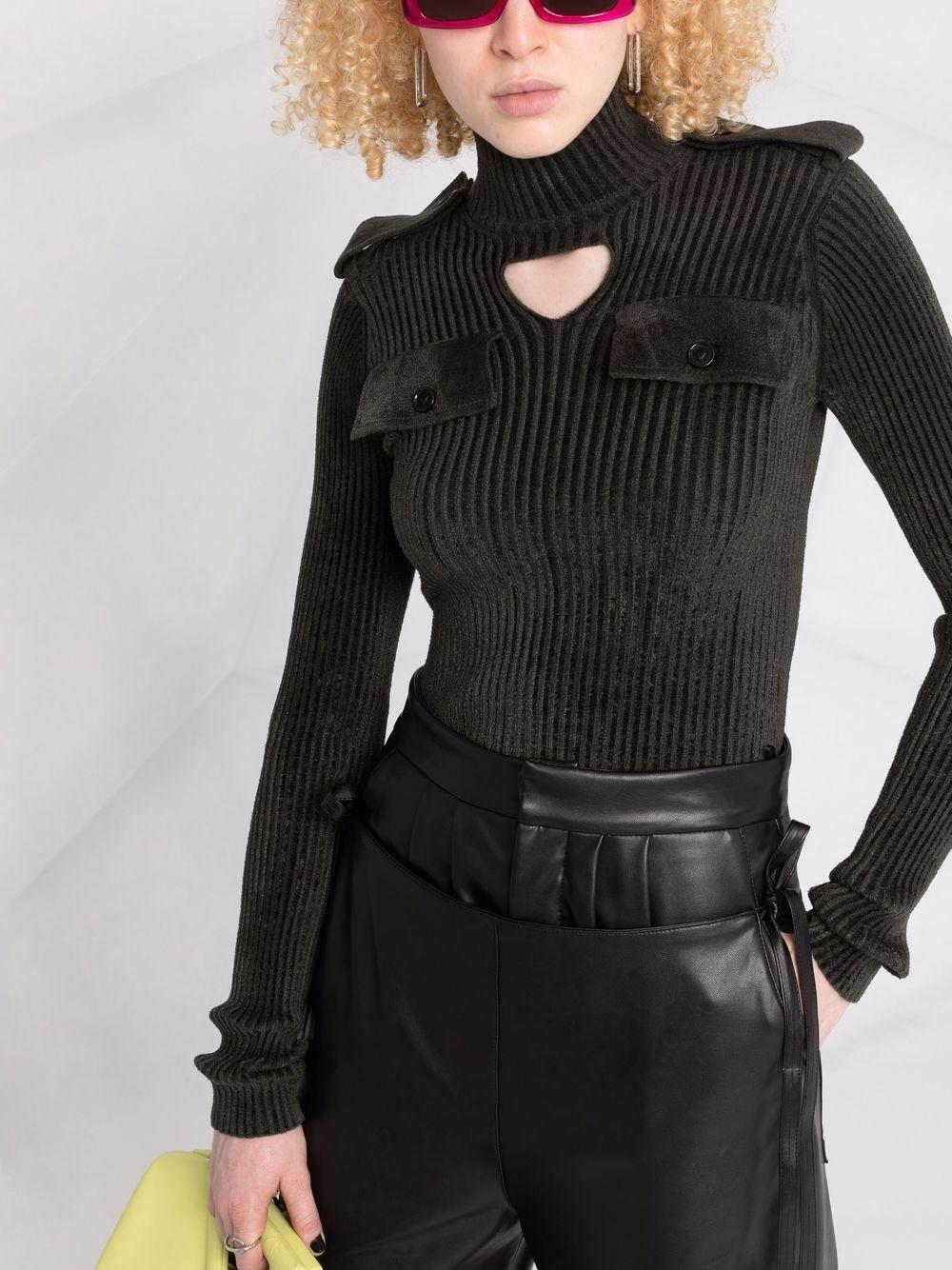 Picture of Bottega Veneta   Cut-Out Ribbed Top