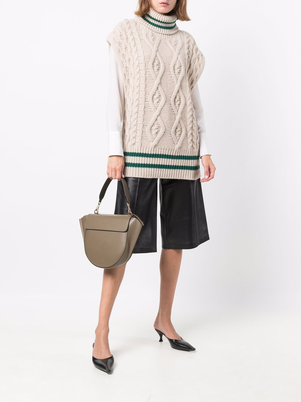 Picture of Erika Cavallini | Cable-Knit Roll Neck Vest