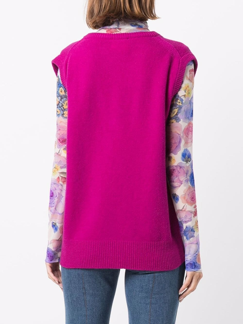 Picture of Semicouture   V-Neck Knit Vest £135