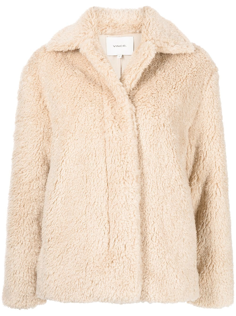 Picture of Vince | Single-Breasted Faux Shearling Jacket