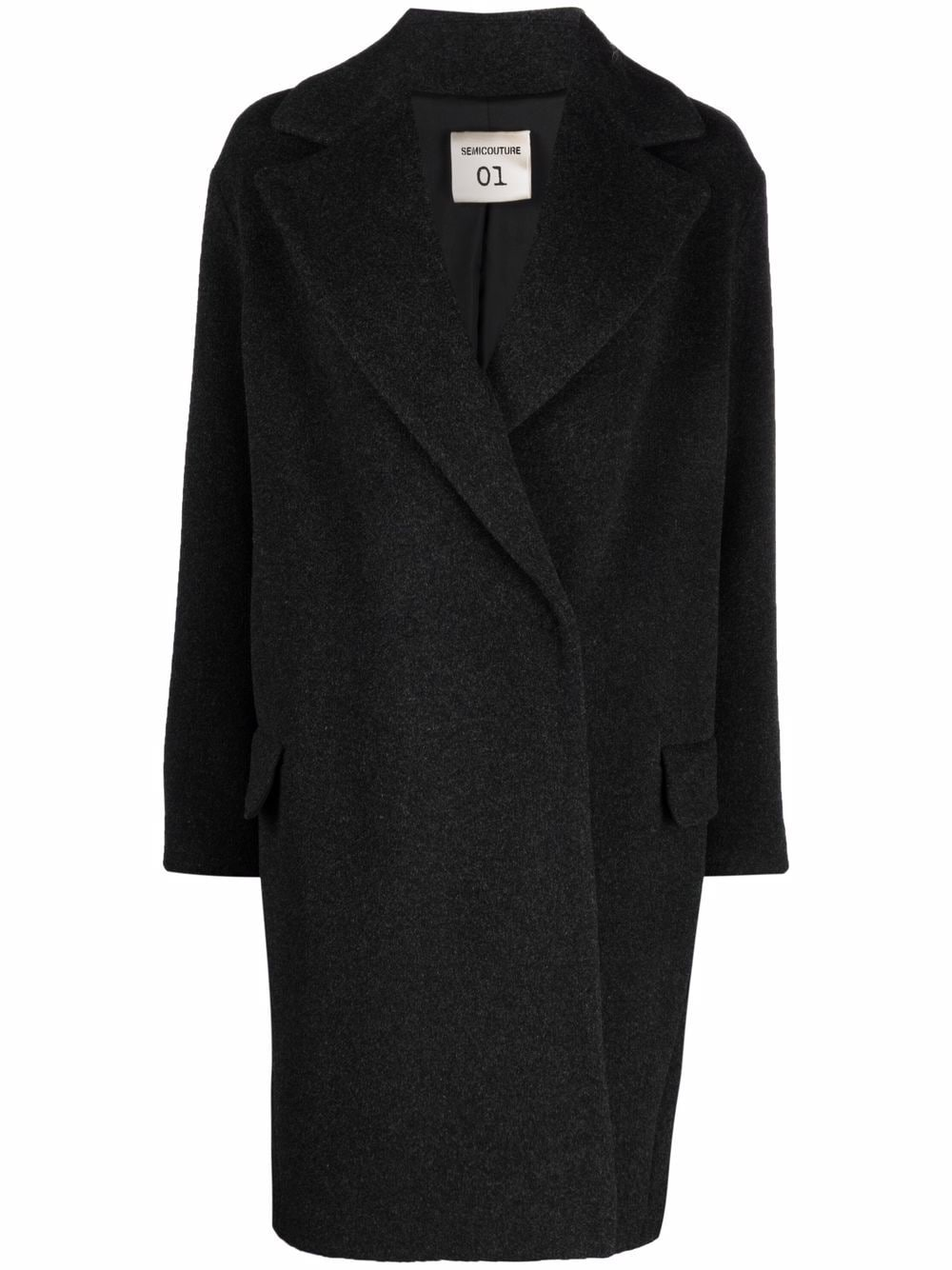 Picture of Semicouture | Double-Breasted Midi Coat