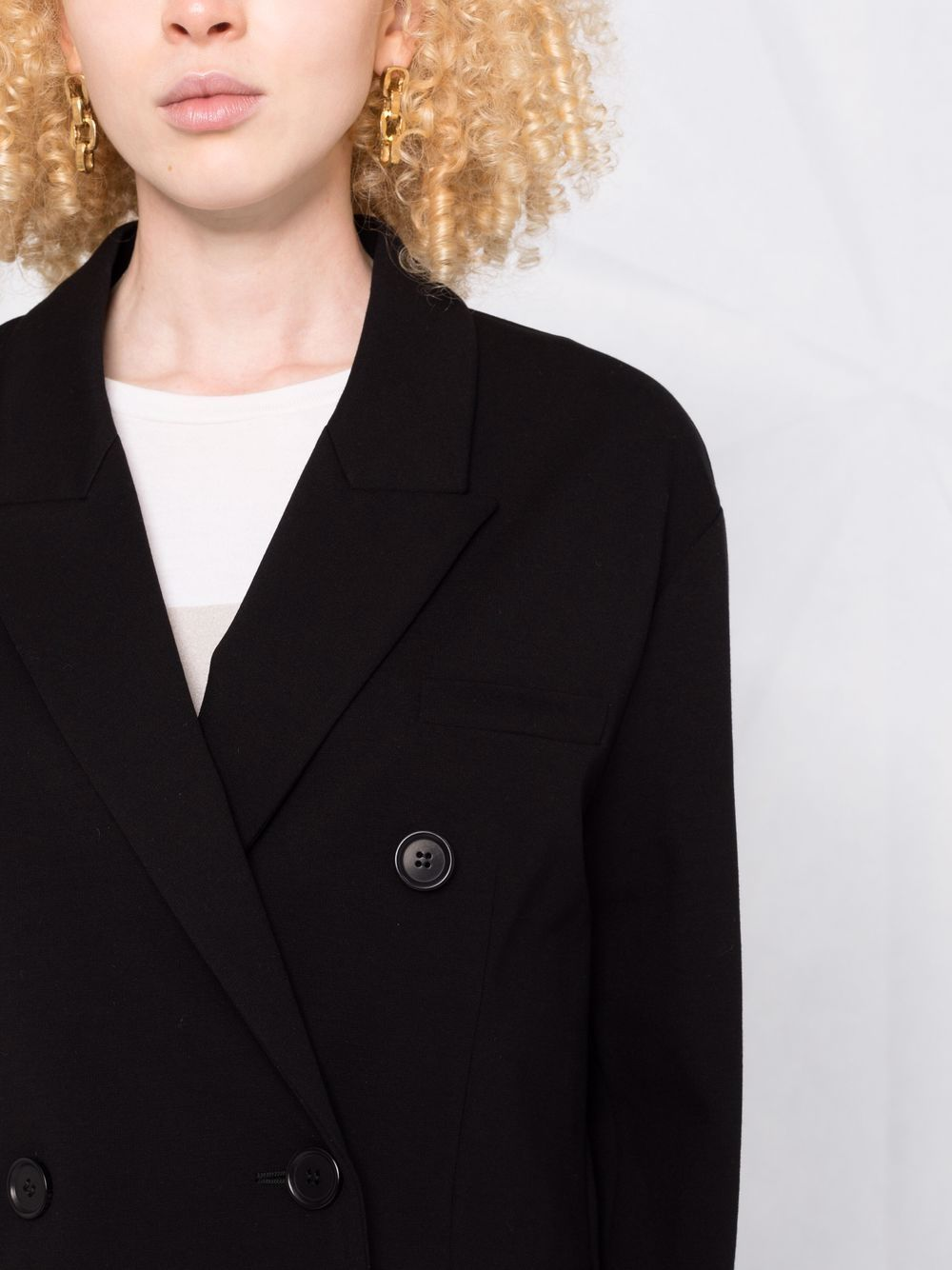 Picture of Aspesi | Peak-Lapels Double-Breasted Blazer