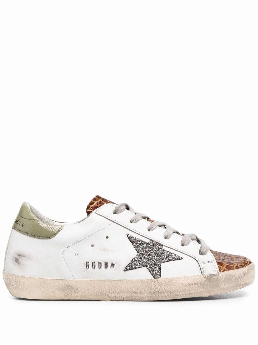 Picture of Golden Goose Deluxe Brand   Super-Star Low-Top Lace-Up Sneakers