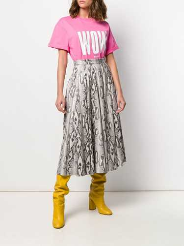 Picture of Msgm | Textured Full Midi Skirt