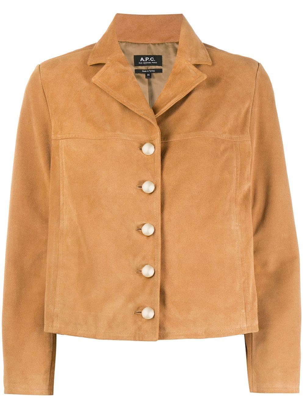 Picture of A.P.C. | Notched-Lapel Button-Through Jacket