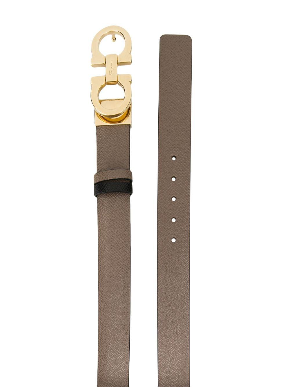 Picture of Ferragamo   Gancini Leather Belt