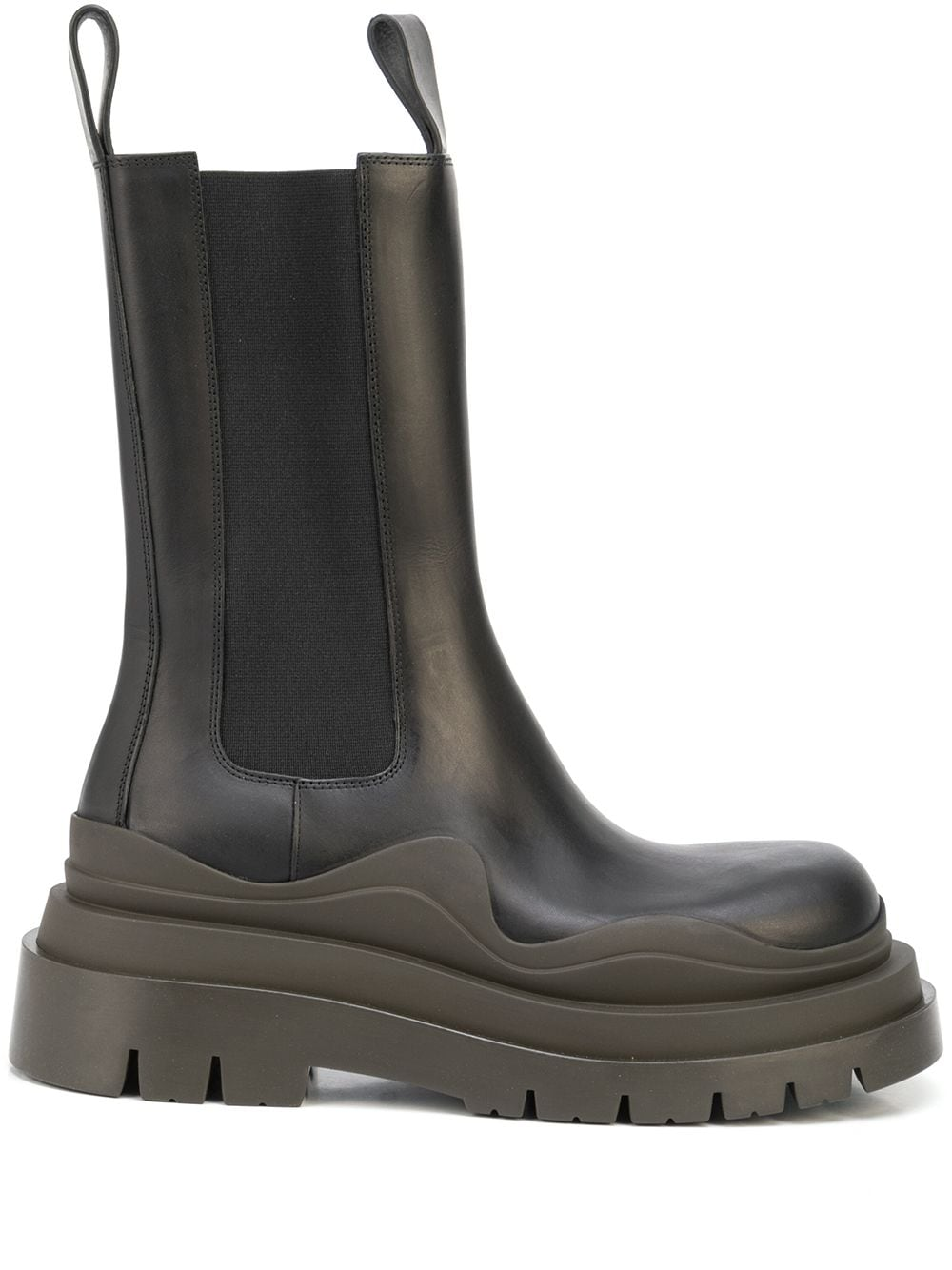 Picture of Bottega Veneta   Bv Tire Mid-Calf Boots