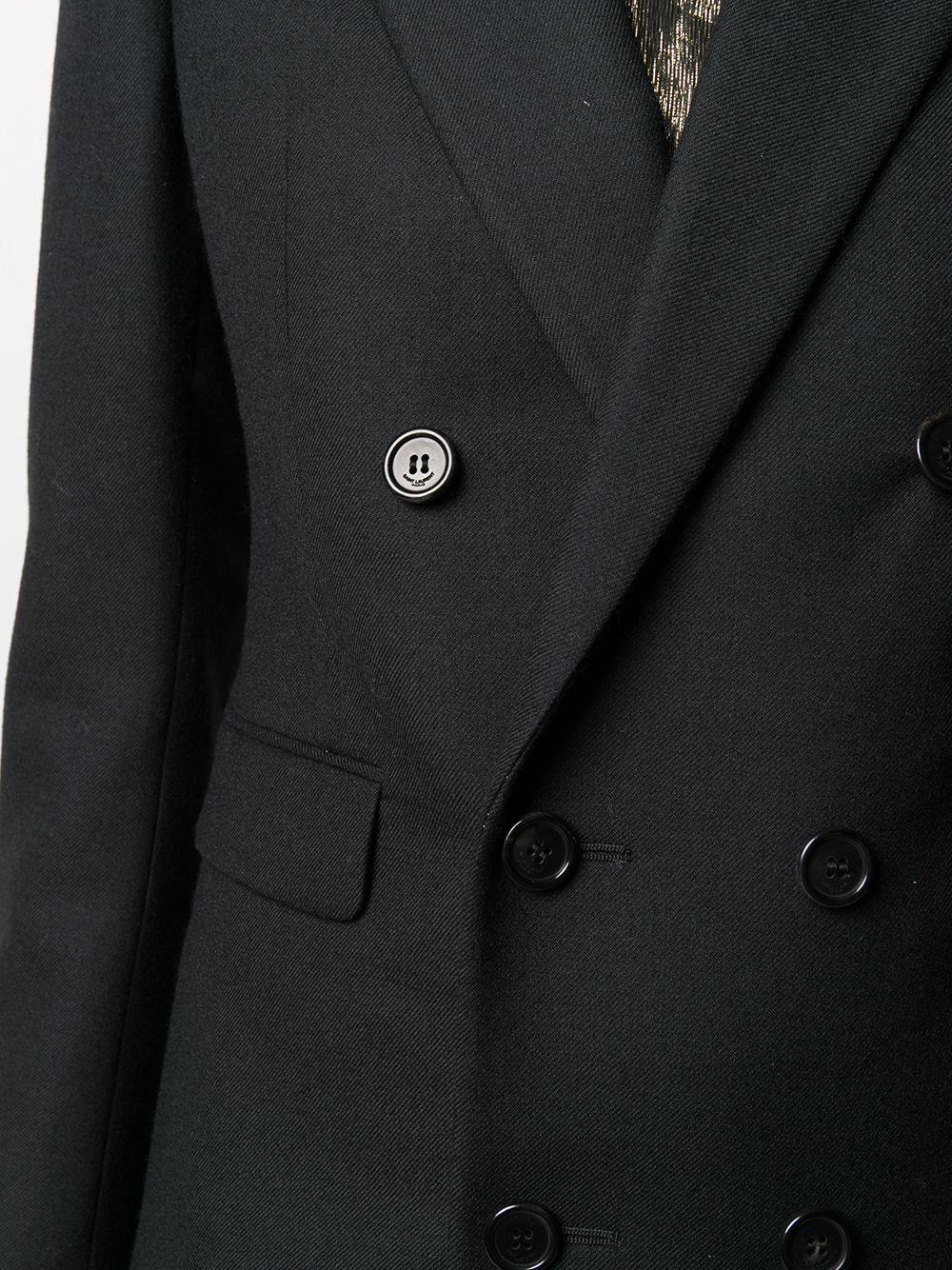 Picture of Saint Laurent | Peak Lapels Double-Breasted Blazer