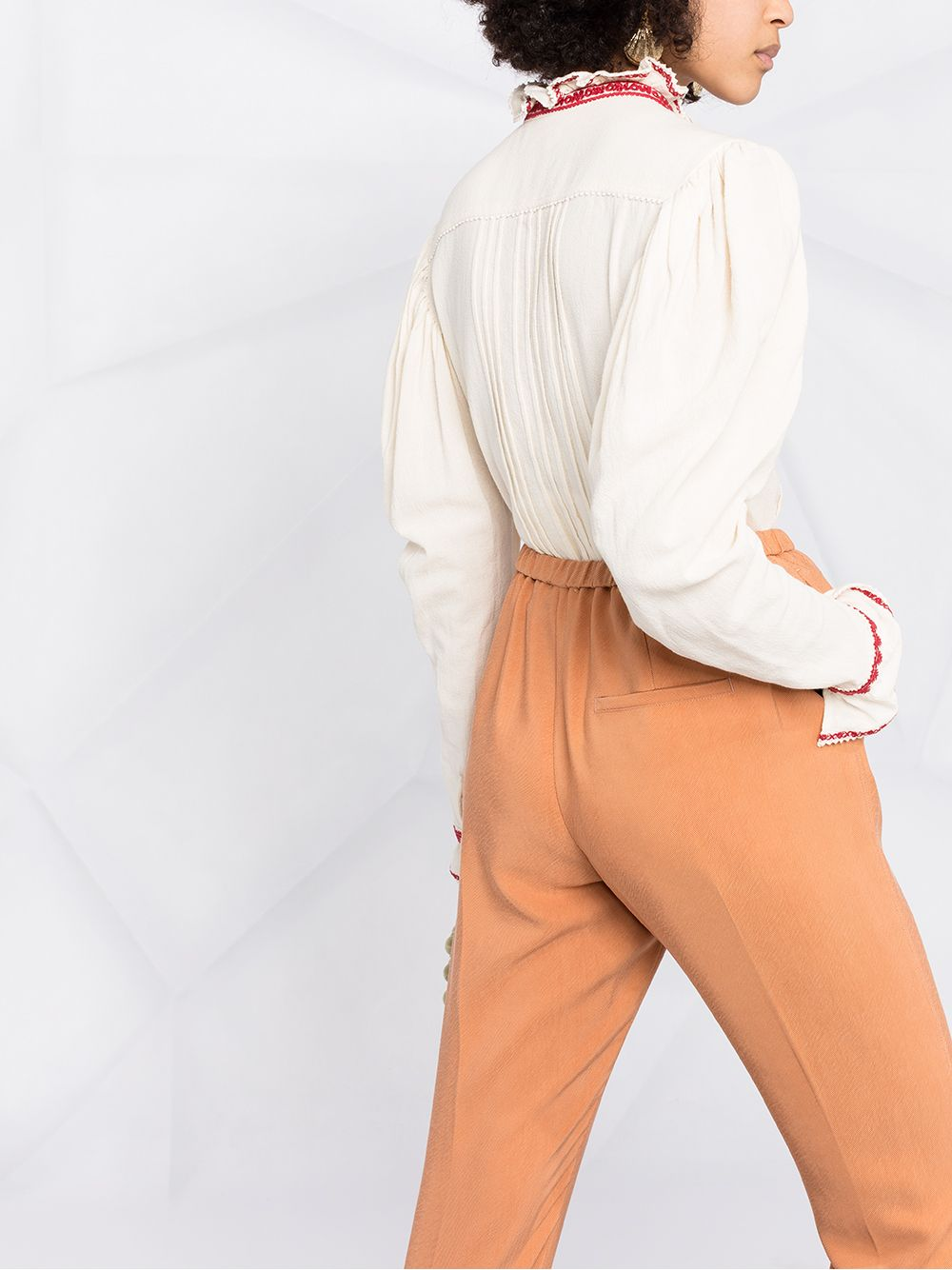 Picture of Forte_Forte | Elasticated Tapered Trousers