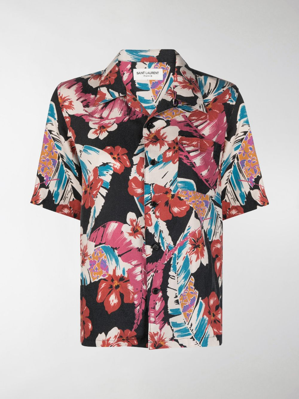 Picture of Saint Laurent | All-Over Floral-Print Shirt