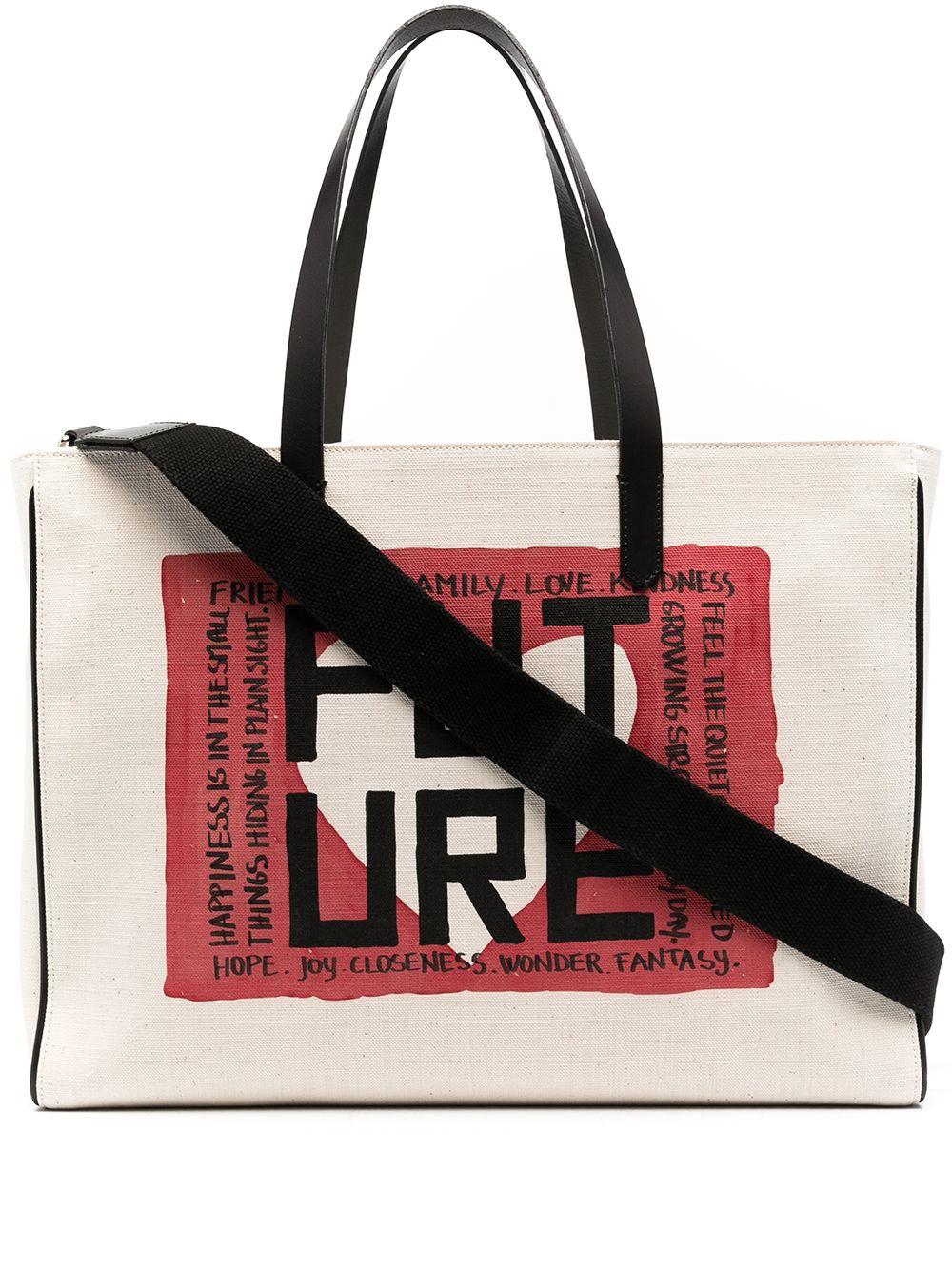 Picture of Golden Goose Deluxe Brand | California Future Print Tote Bag