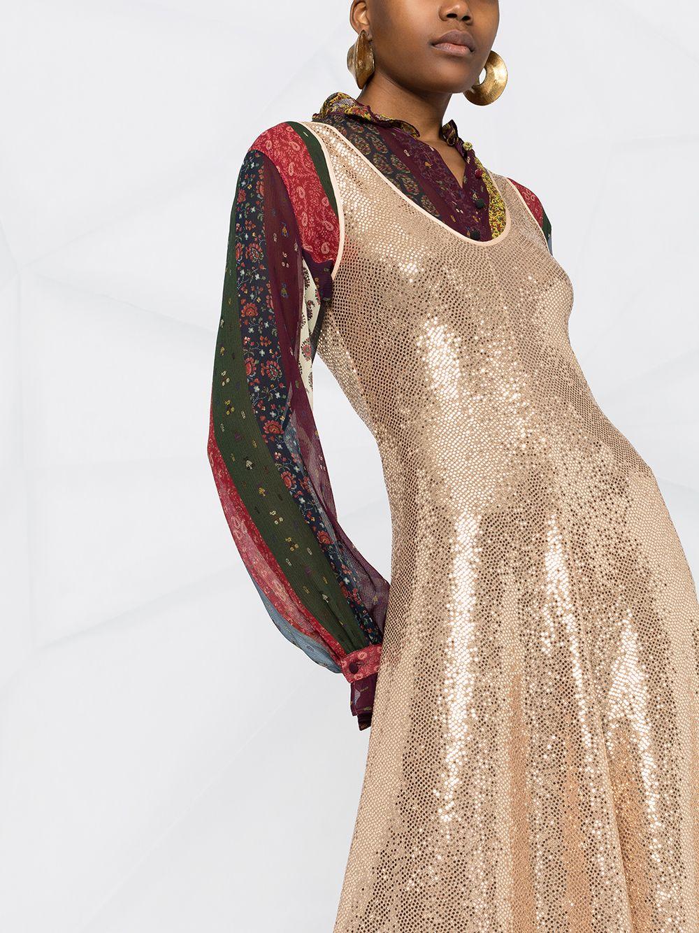 Picture of Forte_Forte   Glitter-Embellished Flared Dress