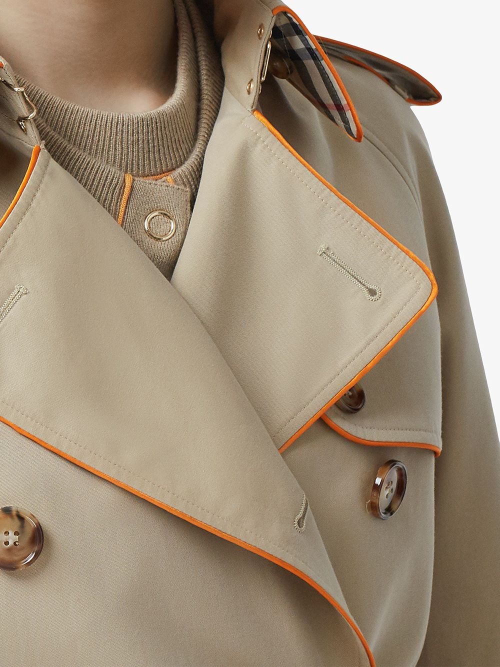 Picture of Burberry | Pipe-Trimmed Trench Coat